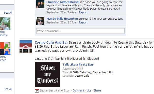 Talk Like a Pirate Day Facebook Invitation